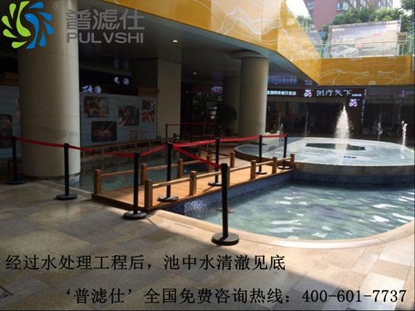 祝贺湖北宜昌水悦城广场景观水处理工程完满成功
