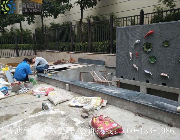 惠州别墅景观水处理--鱼池改造加建过滤系统