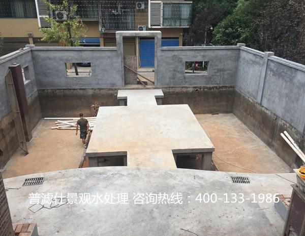 湖南衡阳别墅鱼池景观鱼池--施工案例